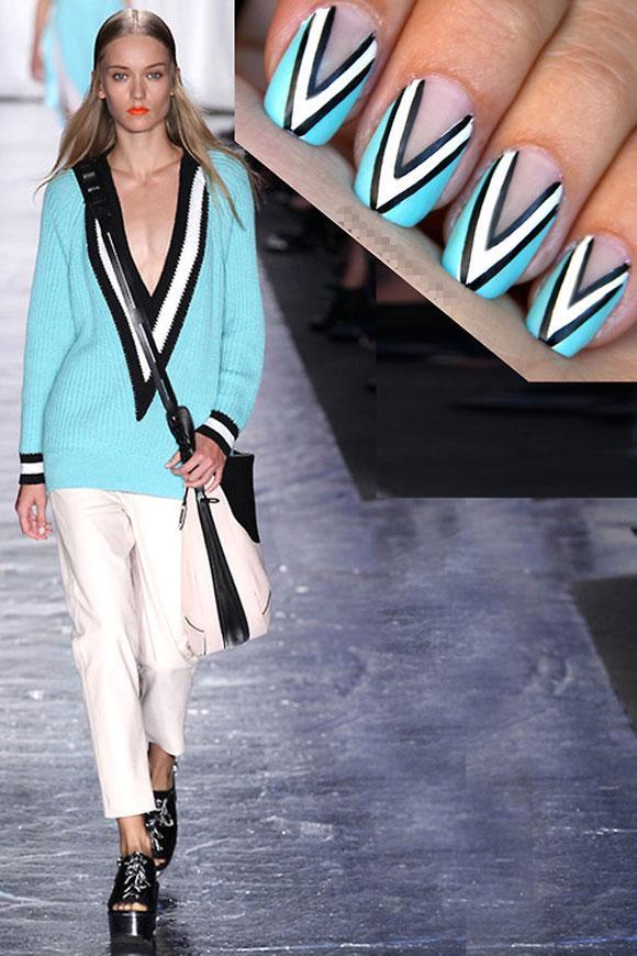 Nail xinh ấn tượng xuyệt tông với quần áo