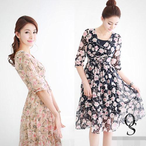 """Váy hoa """"xu nịnh"""" nữ công sở ngày Hè"""