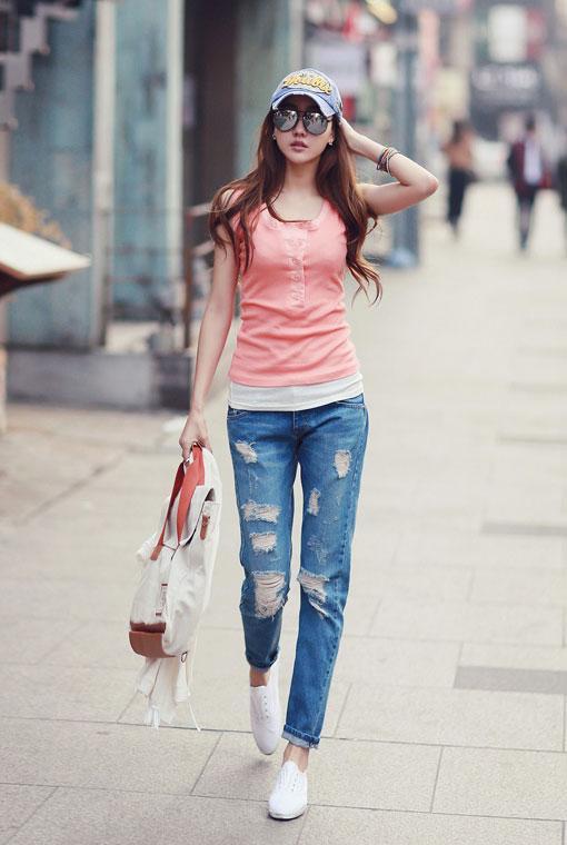 Boyfriend jeans cho cô nàng tinh nghịch!