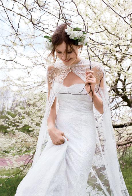Ấm áp mà vẫn đẹp lộng lẫy với áo khoác cưới mùa đông 2013 21