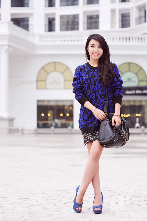 Dễ dàng mặc đẹp mà ấm cùng len oversized - 5