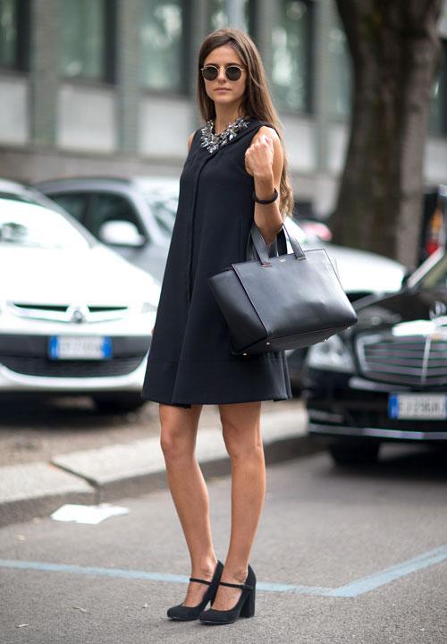 7 cách đơn giản khiến chiếc váy đen thêm bắt mắt 16