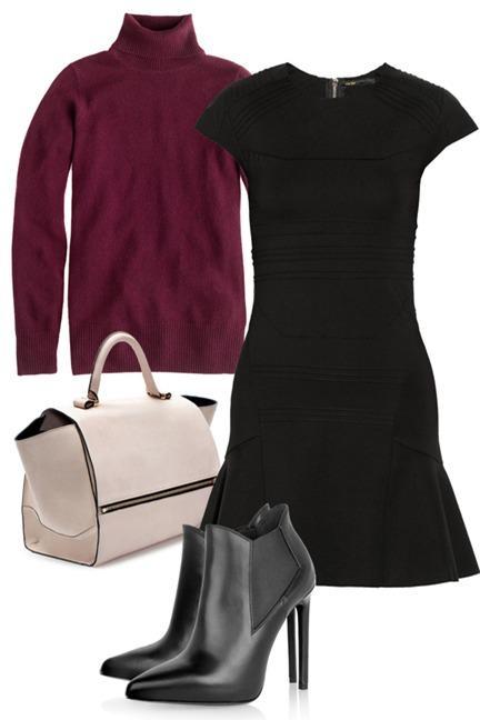 Biến hoá 1 chiếc váy đen theo 4 hoàn cảnh cho mùa Thu/Đông 1