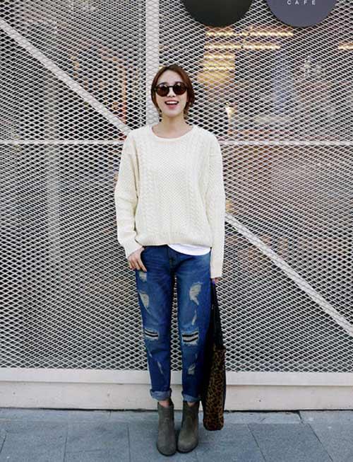 'Chất lừ' với quần jeans dáng thụng - 5