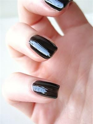 nail màu đen, nail đen