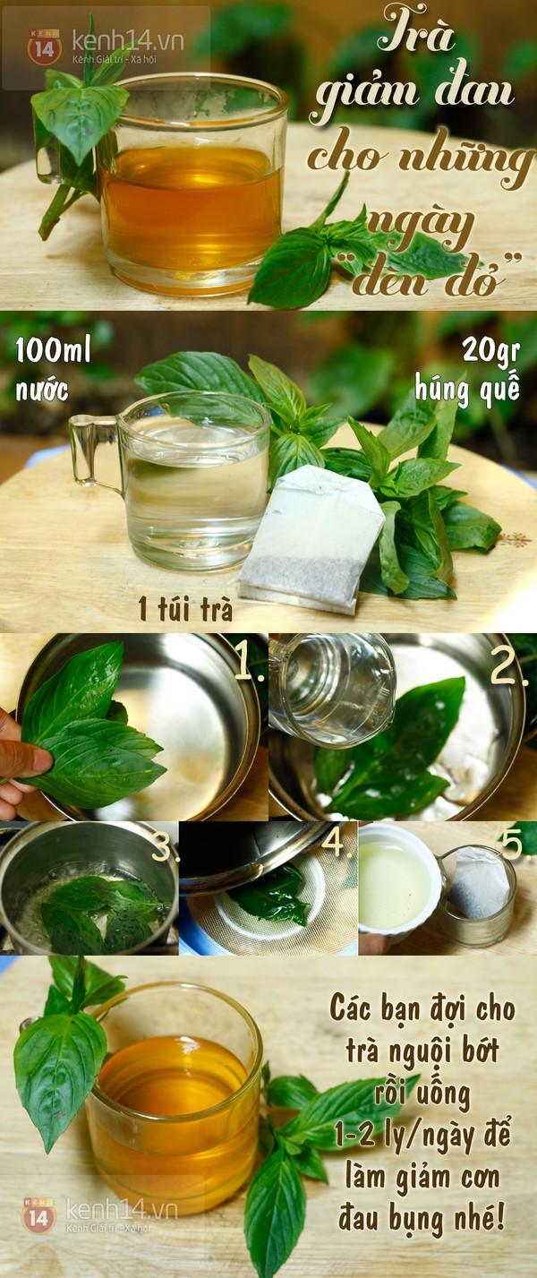 Tự làm trà giảm đau dành cho ngày
