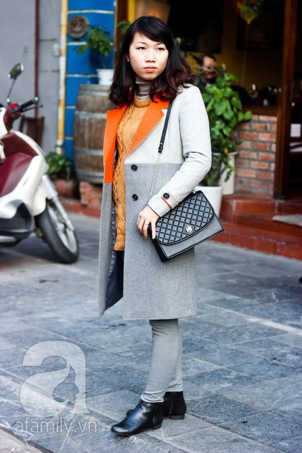 Áo khoác dáng dài tràn ngập street style phái đẹp Hà Thành 10