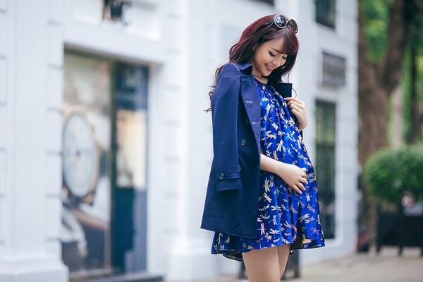 Mặc đồ công sở ấm áp và thời trang cho bà bầu xinh đẹp 14