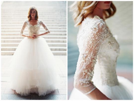 Xu hướng váy cưới dài tay cho mùa đông lạnh giá 5