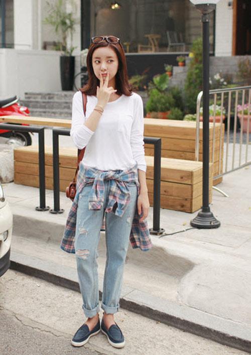 'Chất lừ' với quần jeans dáng thụng - 4