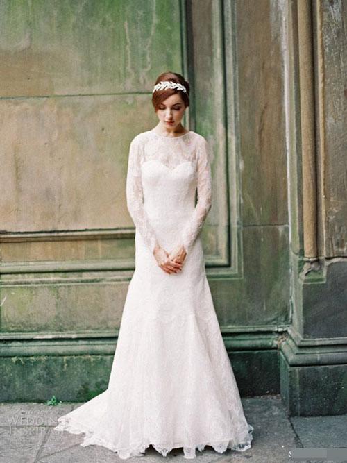 Chọn váy cưới đẹp, ấm cho cô dâu mùa đông - 7