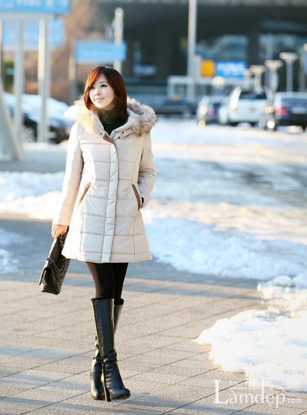 Mix đồ đẹp mùa đông cùng tóc ngắn trẻ trung