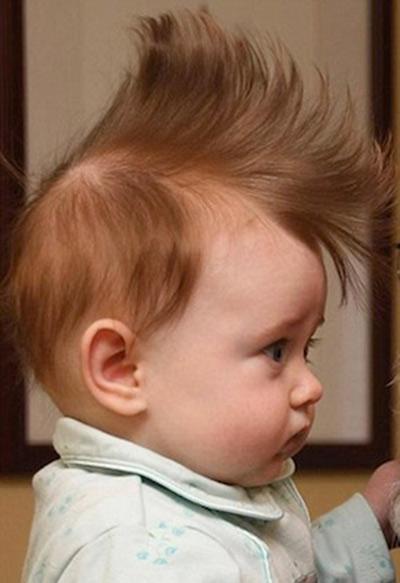 Cười lăn lộn với những kiểu tóc siêu yêu của trẻ nhỏ