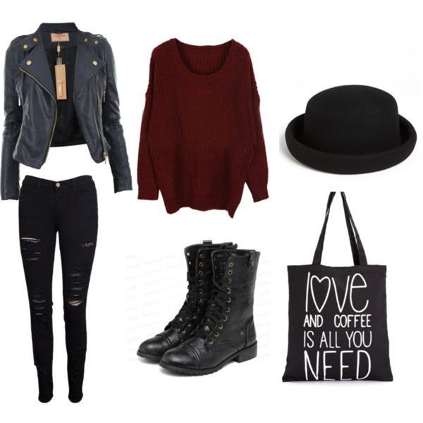 Jacket, jeans