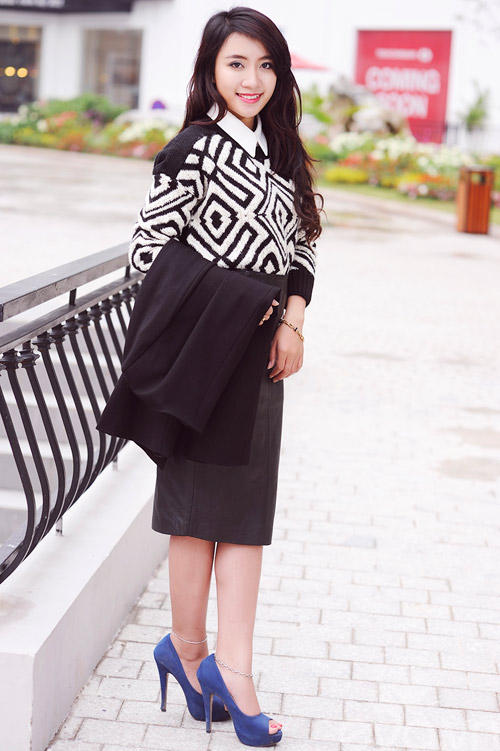 Dễ dàng mặc đẹp mà ấm cùng len oversized - 9