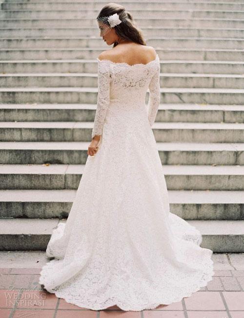 Chọn váy cưới đẹp, ấm cho cô dâu mùa đông - 5