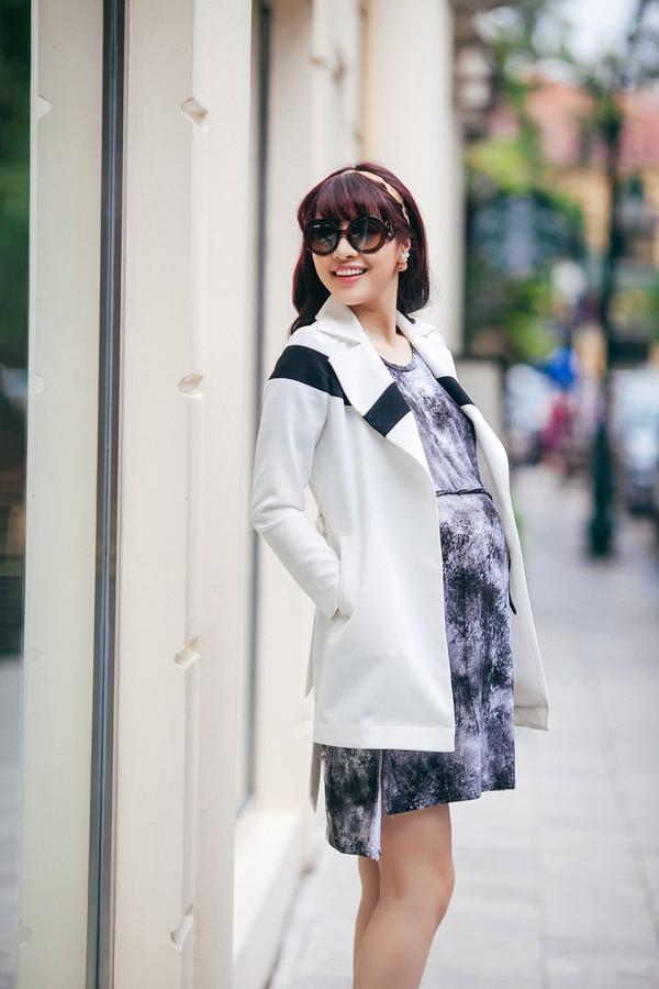 Mặc đồ công sở ấm áp và thời trang cho bà bầu xinh đẹp 2