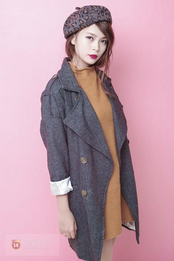 Tạo ra 4 phong cách khác biệt chỉ với 1 chiếc áo khoác mùa đông 8