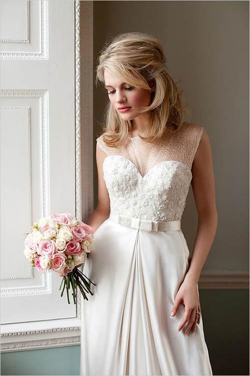 10 váy cưới lý tưởng cho nàng ngực nhỏ, eo to - 2