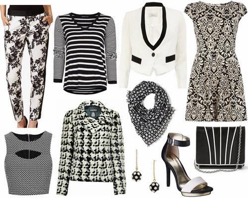 Mix đen và trắng sành điệu theo xu hướng 2013