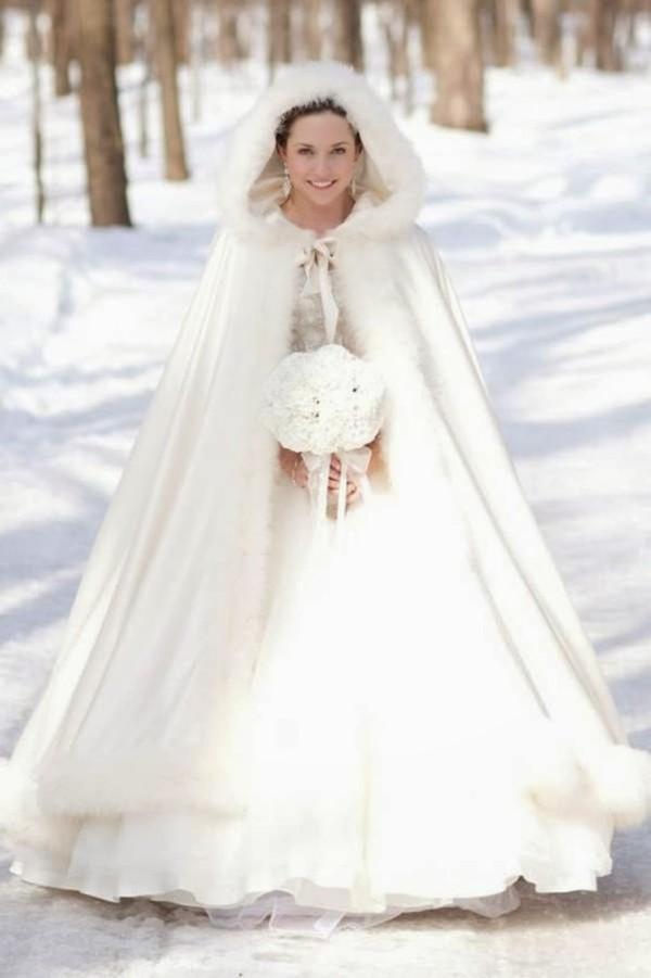Ấm áp mà vẫn đẹp lộng lẫy với áo khoác cưới mùa đông 2013 15