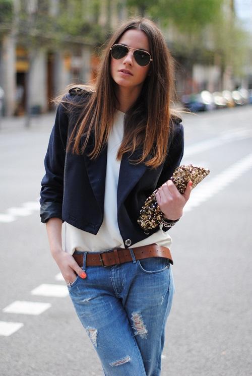 Guu thời trang cá tính với boyfriend jeans