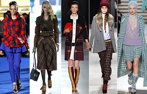 Kẻ sọc lấy cảm hứng từ bộ trang phục truyền thống của Scotland là xu hướng thời trang thực sự gây ảnh hướng rất lớn trong thời gian này.