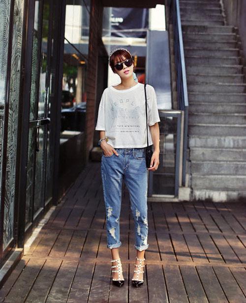 'Chất lừ' với quần jeans dáng thụng - 2