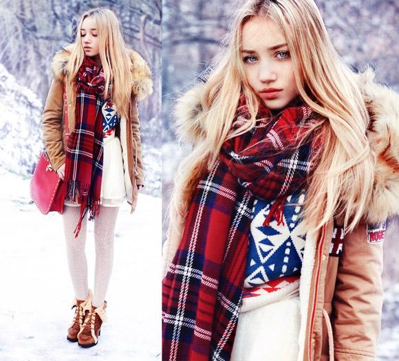 Phối trang phục của mùa đông cơ bản với các fashion icon tóc vàng