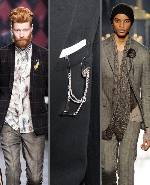 Chọn guu phụ kiện thú vị cho áo vest của chàng