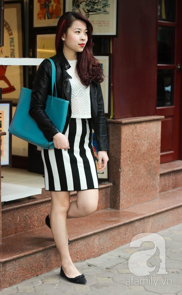 Áo khoác dáng dài tràn ngập street style phái đẹp Hà Thành 8