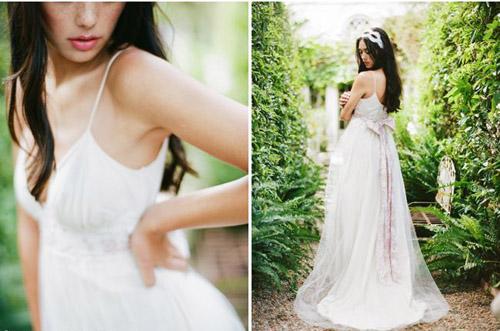 10 mẫu váy cưới đẹp cho nàng bầu - 1