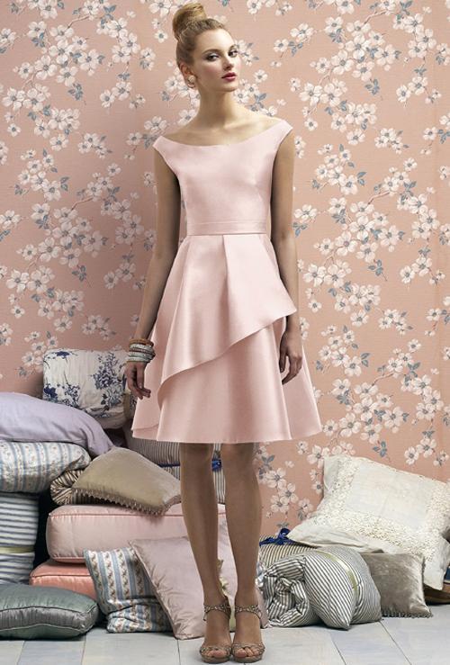 Xu hướng váy phù dâu tone màu pastel 2014 1