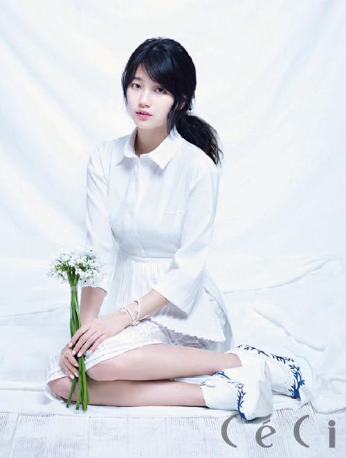 Suzy trong trẻo cùng cả cây trắng hot trend