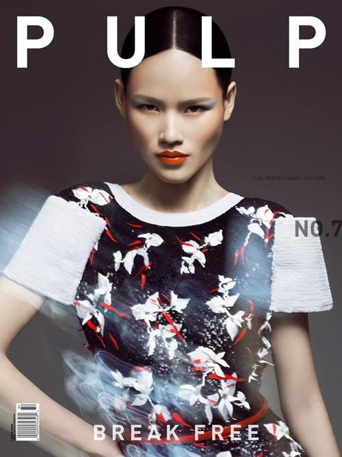 Tuyết Lan làm gương mặt trang bìa cho tạp chí thời trang nước ngoài