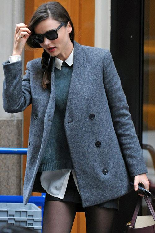 Chọn áo khoác mùa đông chuẩn như Miranda Kerr - 3