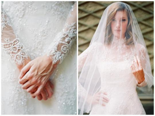 Xu hướng váy cưới dài tay cho mùa đông lạnh giá 4