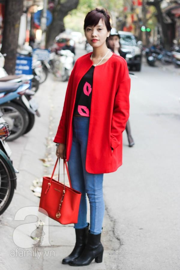 Áo khoác dáng dài tràn ngập street style phái đẹp Hà Thành 5
