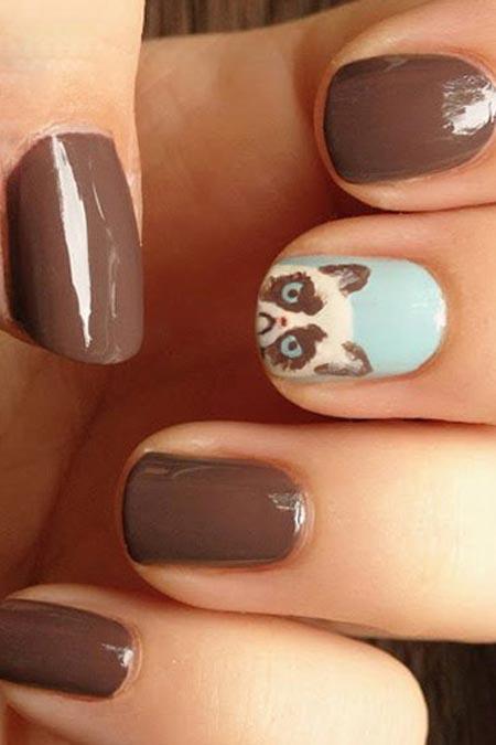 Những mẫu nail đẹp cho bạn gái yêu mèo