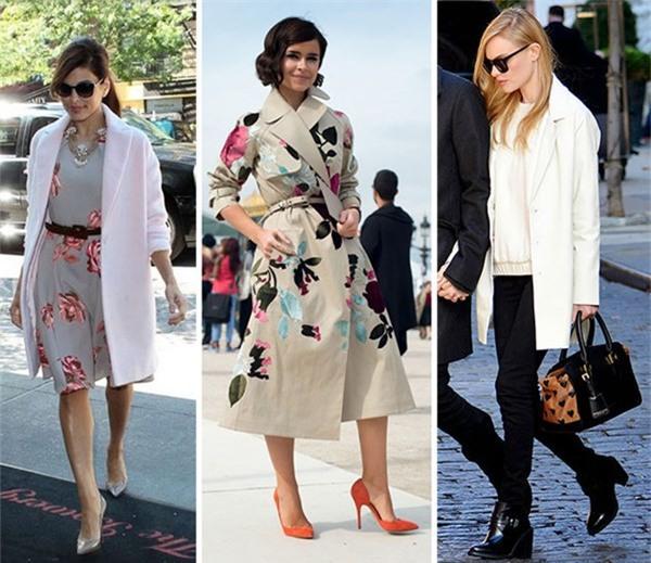 Mẫu áo khoác đẹp Thu Đông 2013 của các sao