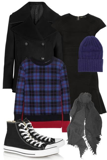 Biến hoá 1 chiếc váy đen theo 4 hoàn cảnh cho mùa Thu/Đông 4