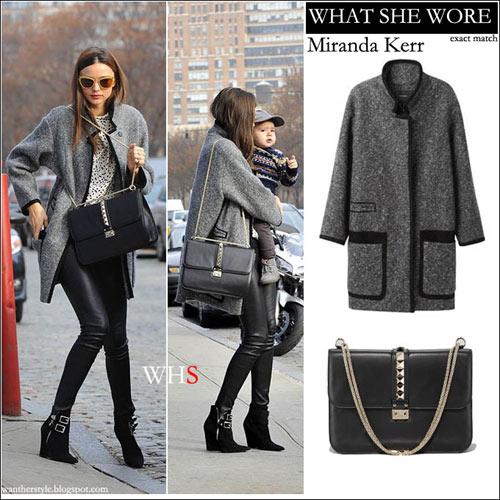 Chọn áo khoác mùa đông chuẩn như Miranda Kerr - 2
