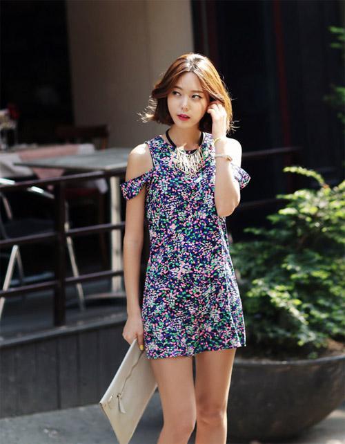 Rực rỡ đầm hoa cùng sao Hàn