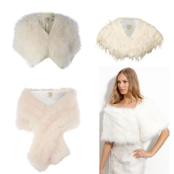 Ấm áp mà vẫn đẹp lộng lẫy với áo khoác cưới mùa đông 2013 2