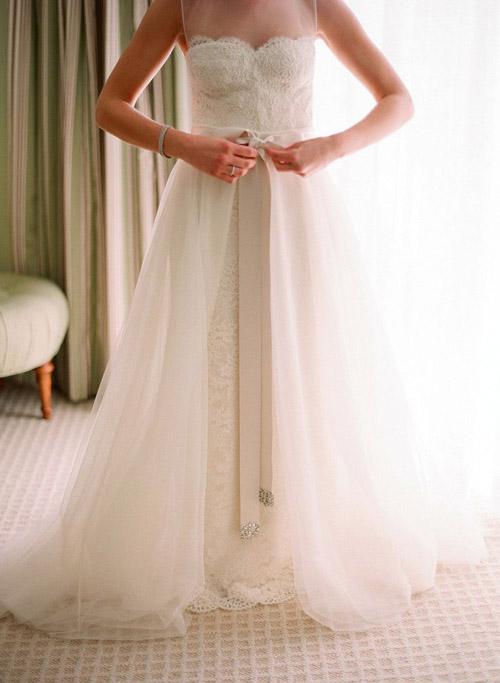 10 mẫu váy cưới đẹp cho nàng bầu - 10