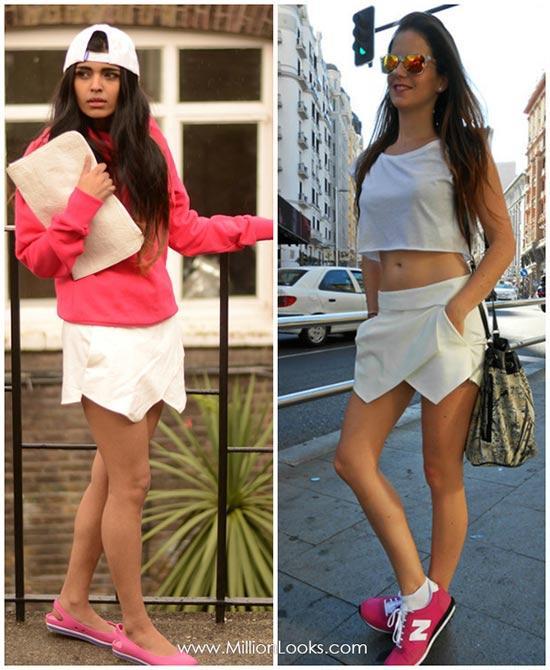 Nở rộ xu hướng skort trong thời trang hè 2013