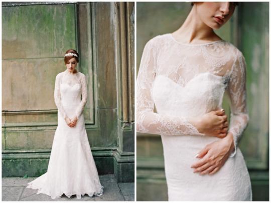 Xu hướng váy cưới dài tay cho mùa đông lạnh giá 6
