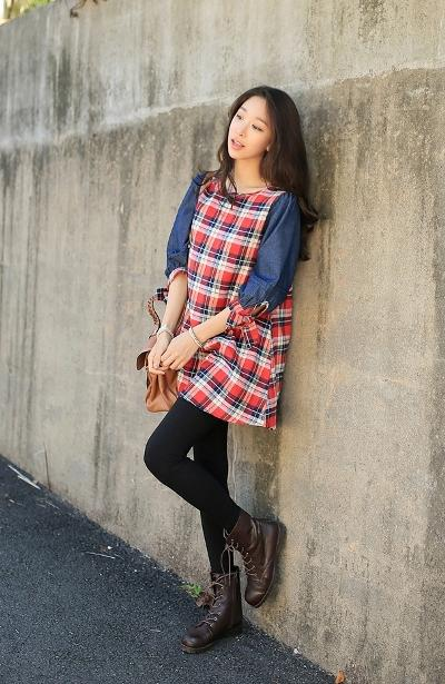 Các mẫu váy kẻ caro đẹp đón mùa thời trang thu đông 2013