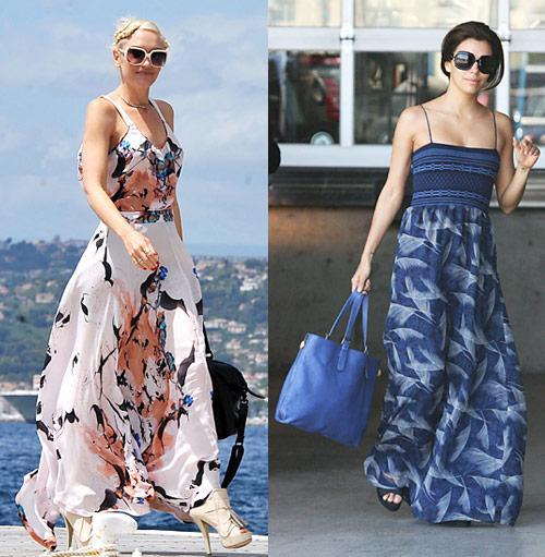 Học mỹ nhân Hollywood đẹp với váy maxi