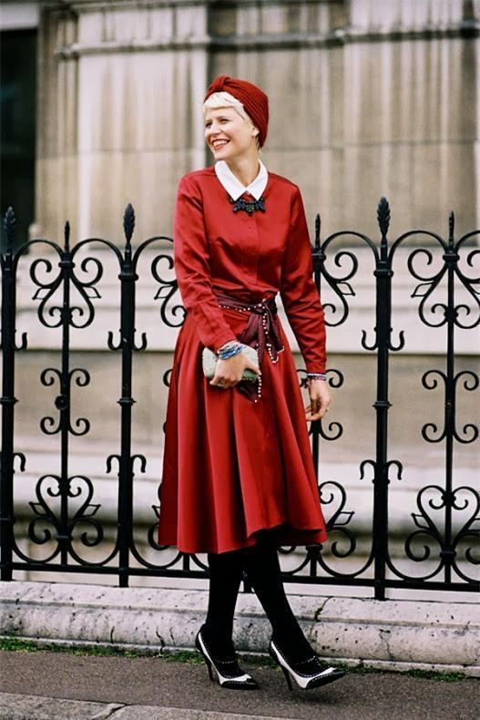 Street style ấm áp và cá tính của châu Âu ngày đầu đông 12